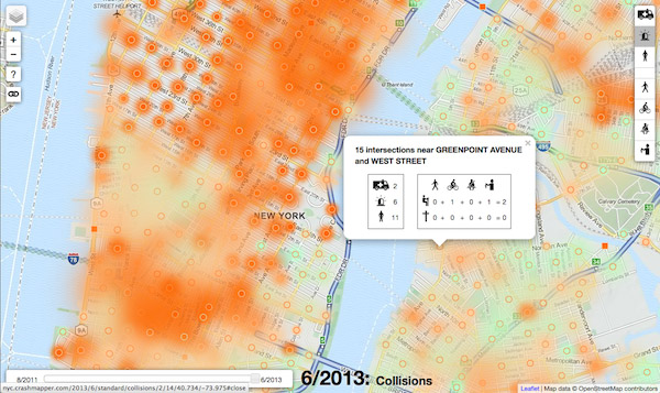 NYC Crashmapper